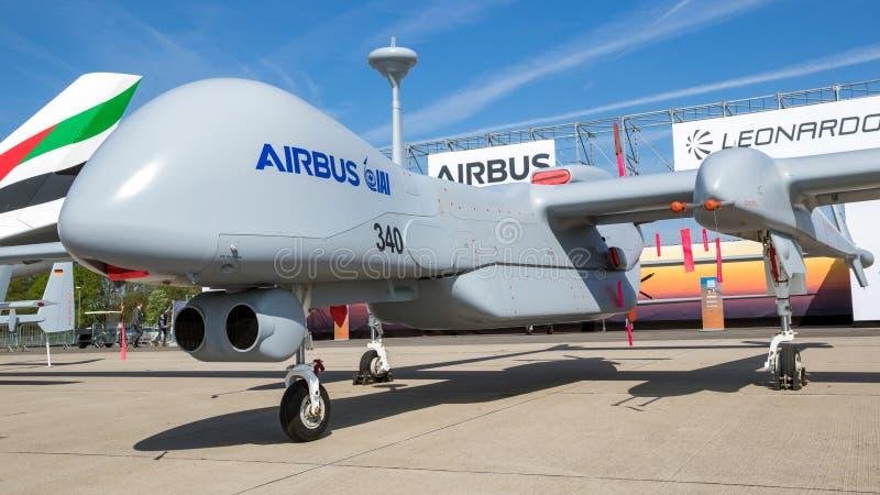 Fuco del UAV IAI Eitan Steadfast di ricognizione di Airbus immagine stock libera da diritti