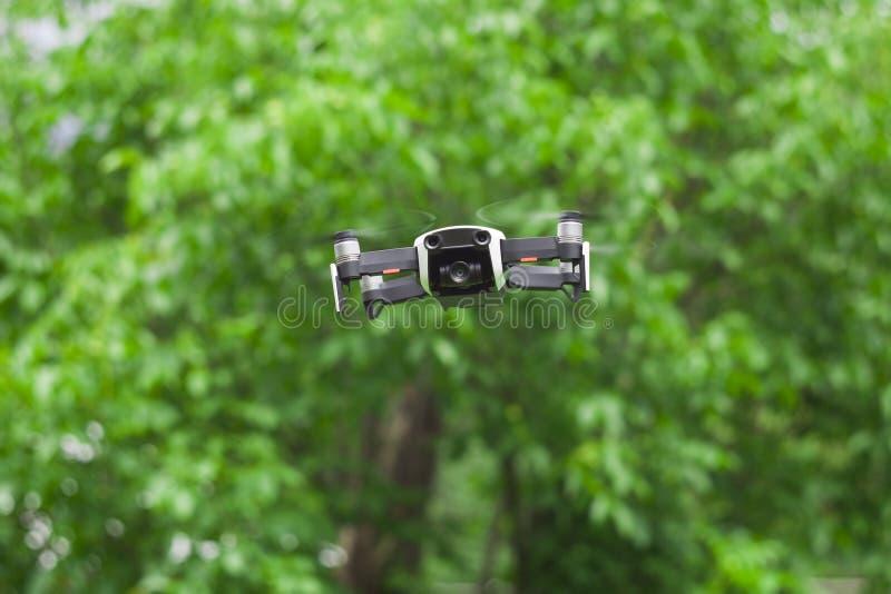 Fuco di hobby con il volo della videocamera fotografie stock