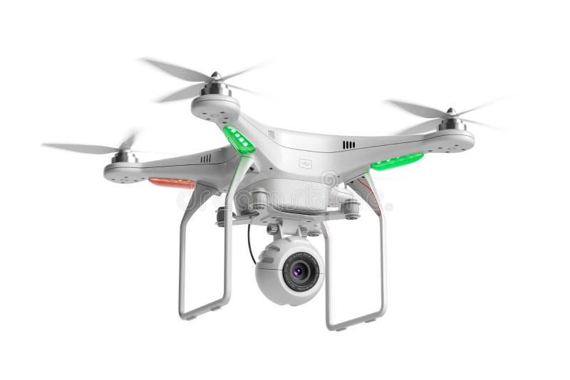 Fuco volante del quadcopter con la macchina fotografica 3d royalty illustrazione gratis