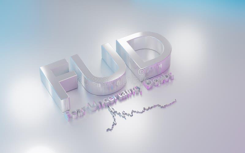 FUD é um acrônimo para o medo, a incerteza e a dúvida ilustração stock