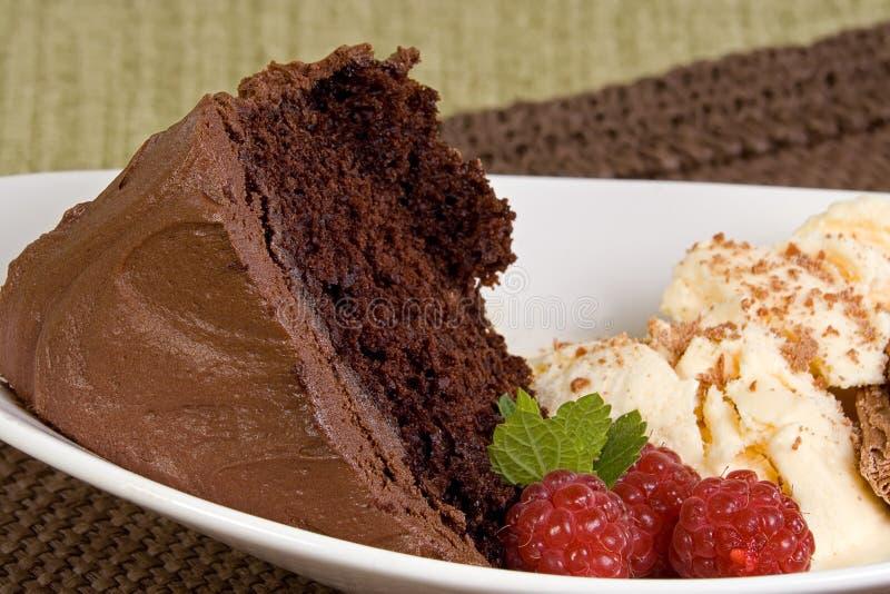 Download Fudge Cake And Ice Cream Stock Image - Image: 33986851