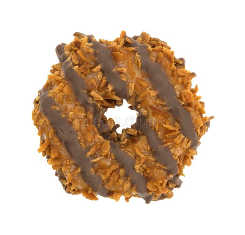 Fudge coconut caramel cookie royalty free stock photo