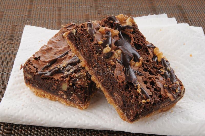 Fudge czekoladowi punkty obrazy royalty free