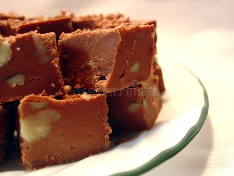 Fudge de chocolate imagens de stock royalty free