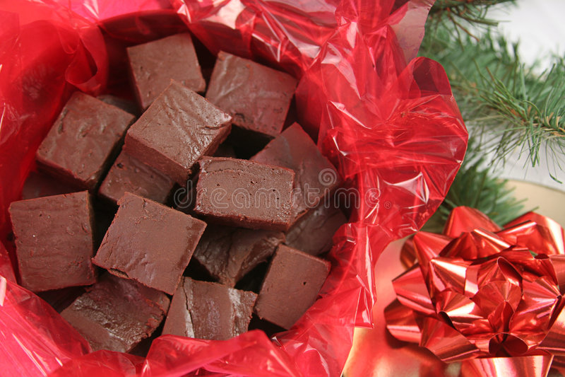 Fudge do Natal fotografia de stock