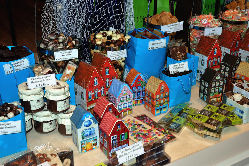Fudge and other sweeties in a shop