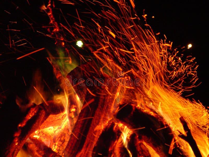 Fuego Ablaze Foto de archivo libre de regalías