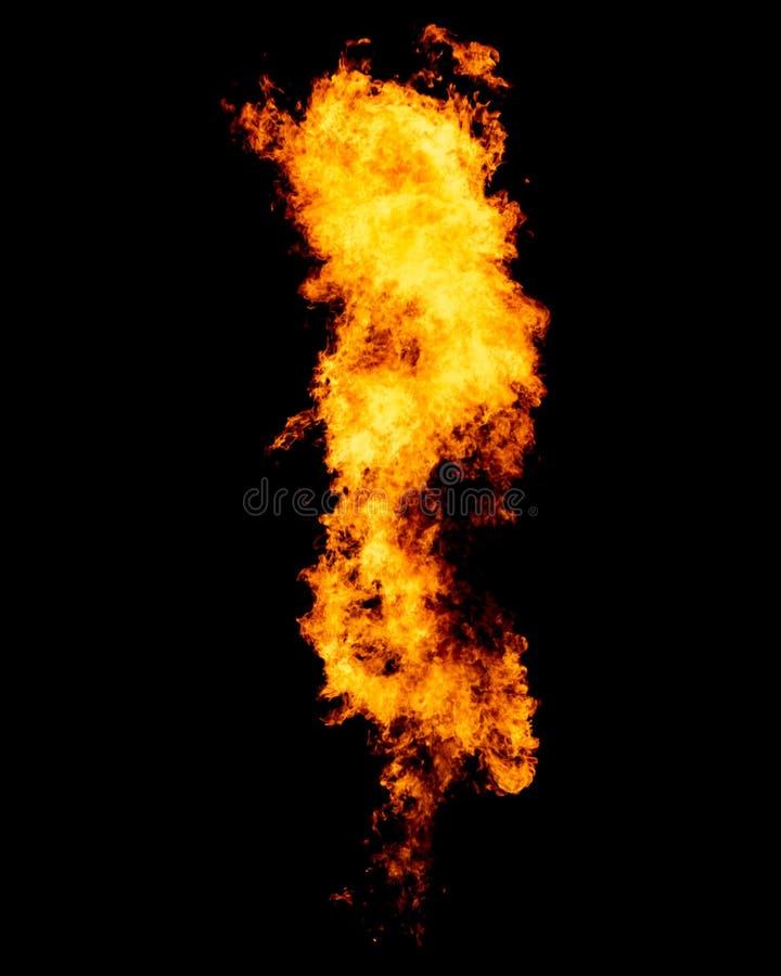 Fuego aislado en negro fotos de archivo