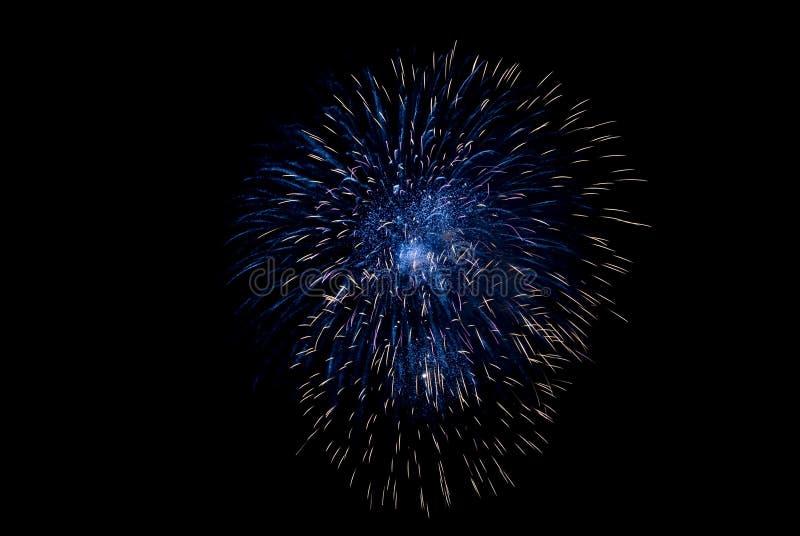 Fuego artificial azul fotos de archivo