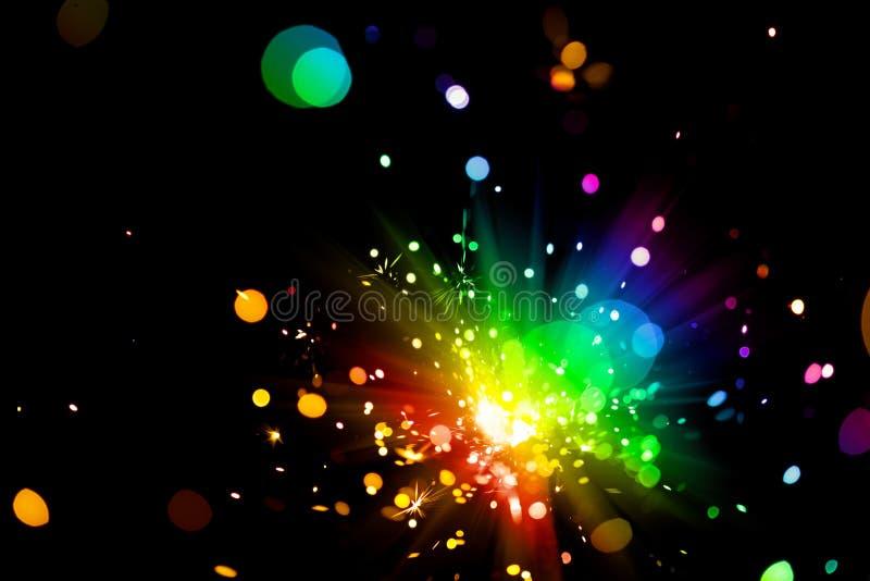 Fuego artificial colorido fotografía de archivo libre de regalías