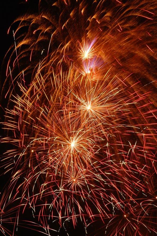 Fuego artificial festivo foto de archivo