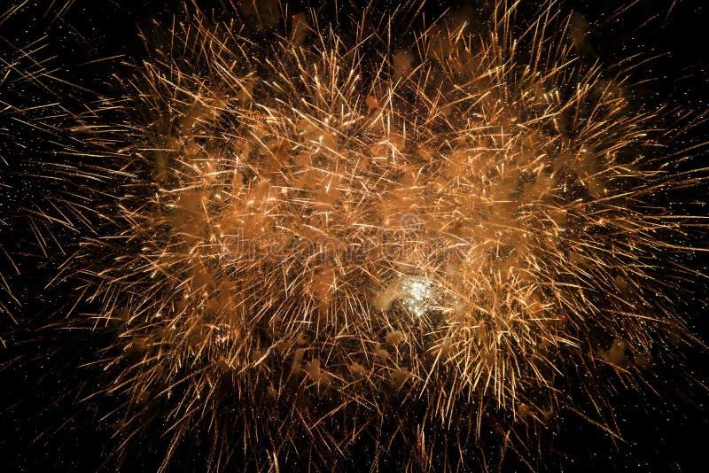 Fuego artificial hermoso del Año Nuevo de Tailandia foto de archivo libre de regalías