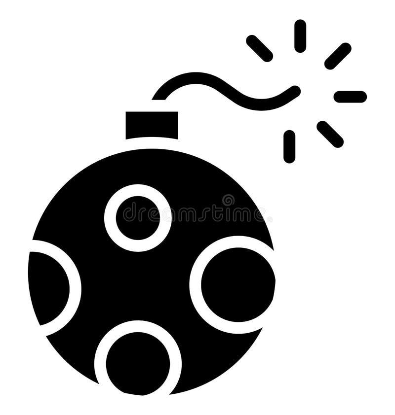Fuego artificial Rocket Isolated Vector Icon que puede ser modificado o corregir fácilmente en cualquier fuego artificial Rocket  libre illustration