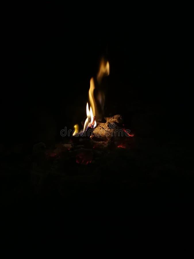 Fuego básico de Firaplace fotografía de archivo libre de regalías