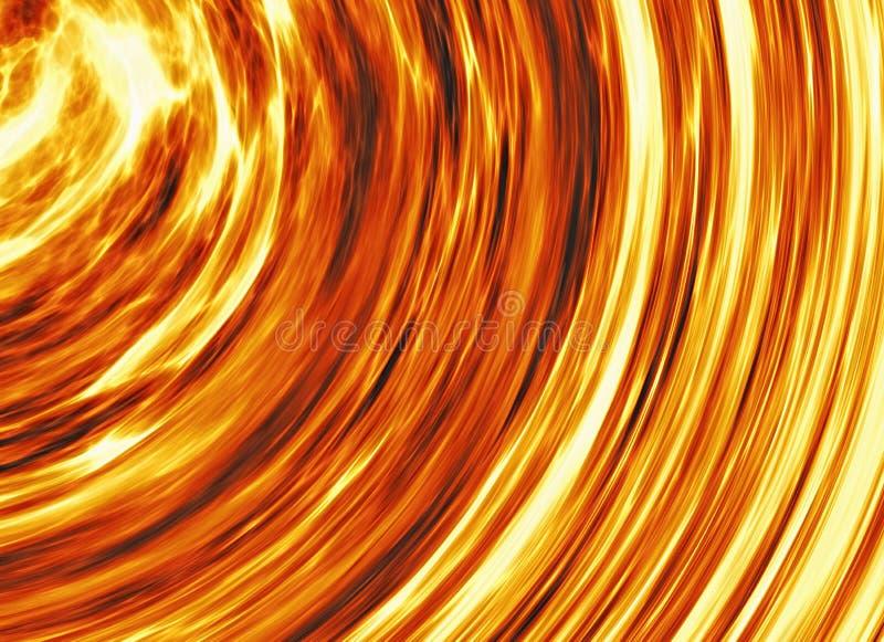 Fuego brillante encrespado de la explosión stock de ilustración