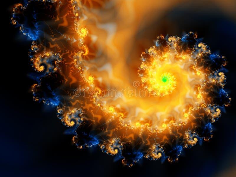 Fuego cósmico ilustración del vector