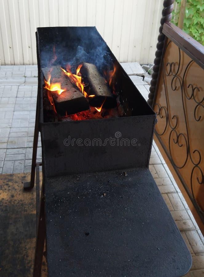 Fuego, chimenea, foto de archivo libre de regalías