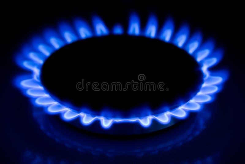Fuego de gas fotos de archivo