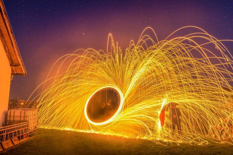 Fuego de giro imagen de archivo libre de regalías