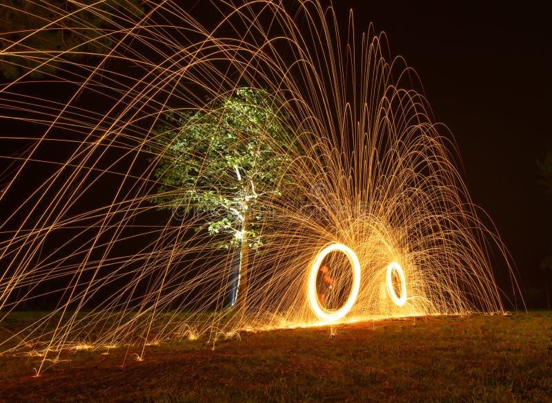 Fuego de giro foto de archivo libre de regalías