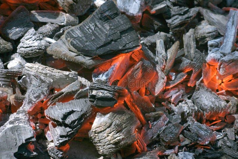 Fuego de la fragua de las ascuas fotografía de archivo libre de regalías