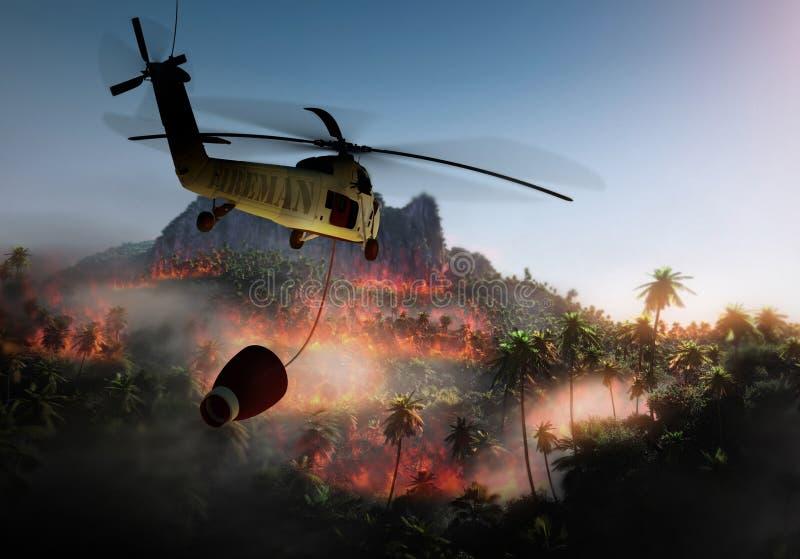 Fuego de la selva ilustración del vector