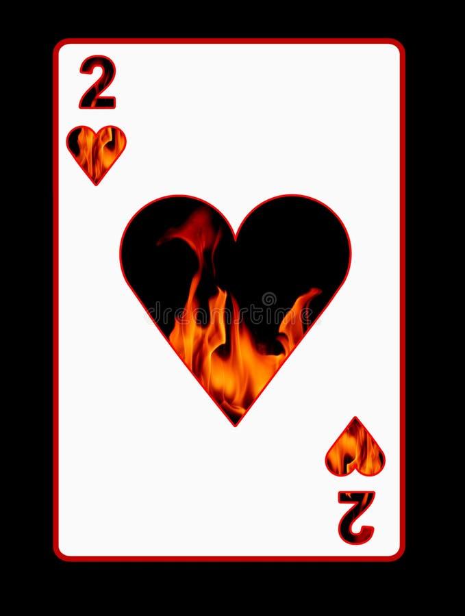 Fuego de la tarjeta del amor stock de ilustración