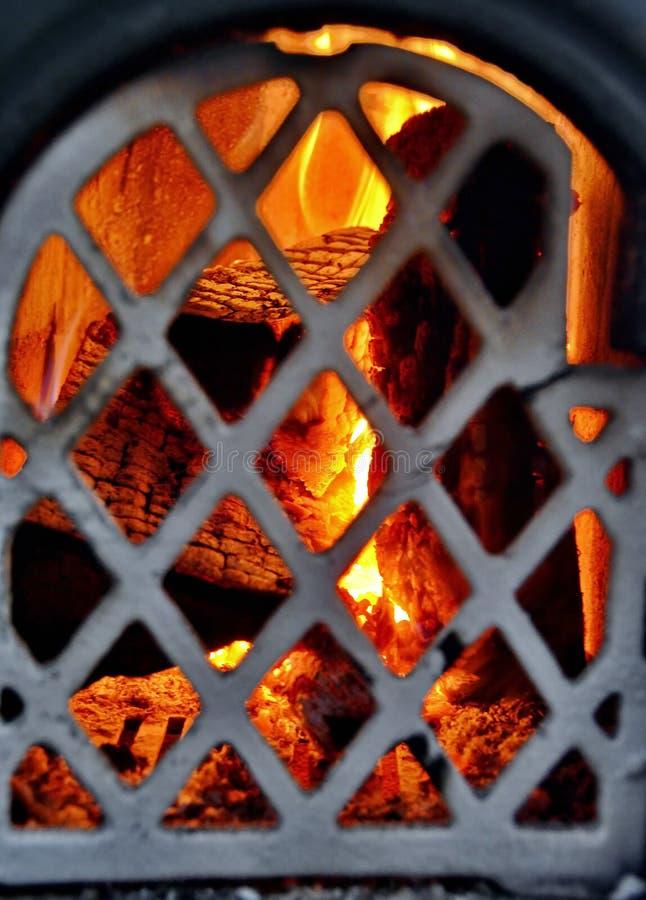 Fuego de madera imagen de archivo
