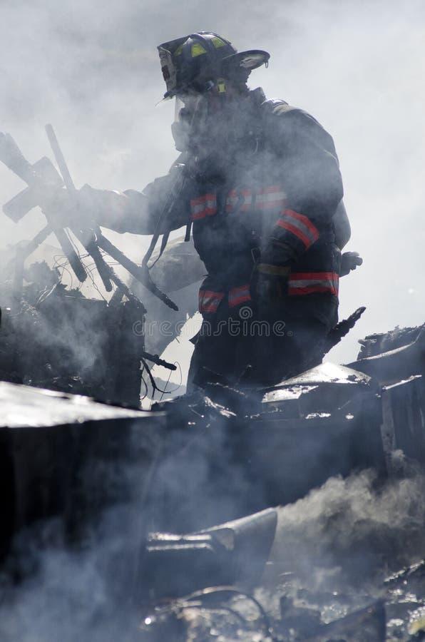 Fuego de Williamstown Vermont fotografía de archivo libre de regalías