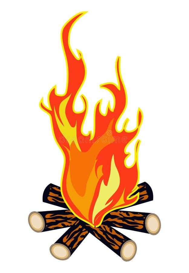 Fuego del campo ilustración del vector