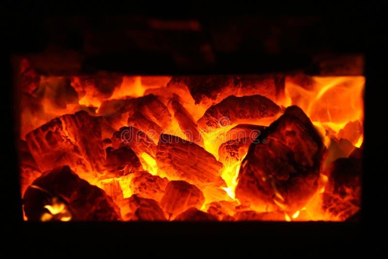 Fuego del carbón fotos de archivo