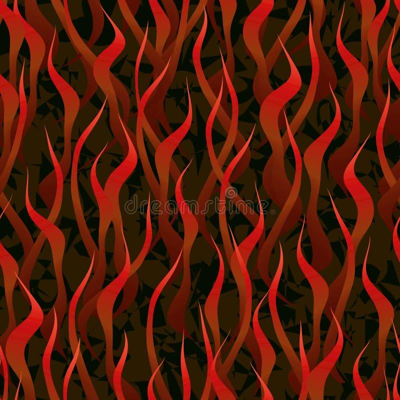 Fuego del infierno ilustración del vector