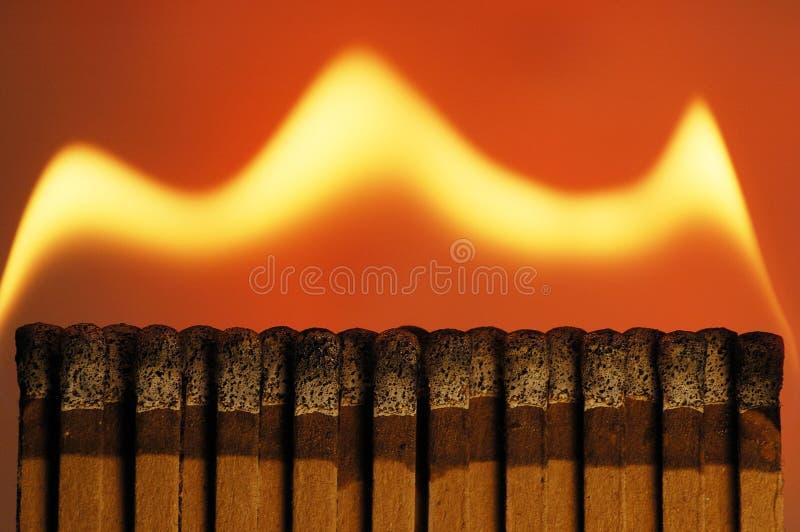 Fuego del Matchbook imagenes de archivo