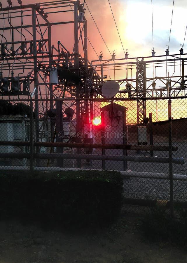Fuego eléctrico de Sun imagen de archivo libre de regalías