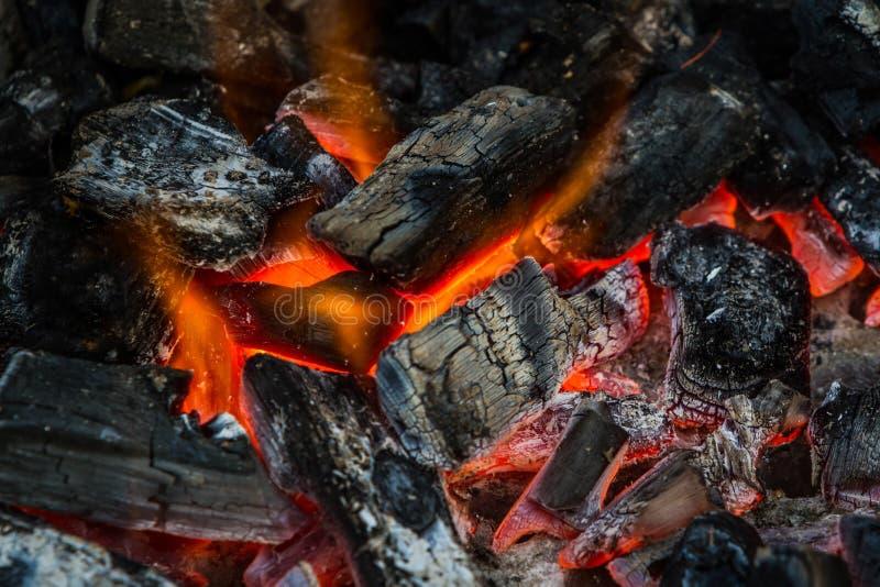 Download Fuego En El Carbón De Leña Para El Asado A La Parilla De La Comida Foto de archivo - Imagen de parrilla, negro: 41919182