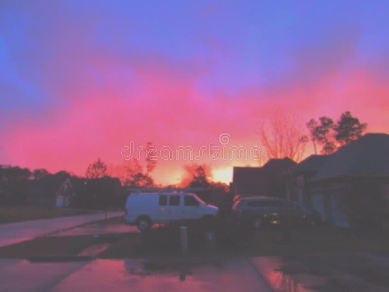 Fuego en el cielo fotos de archivo