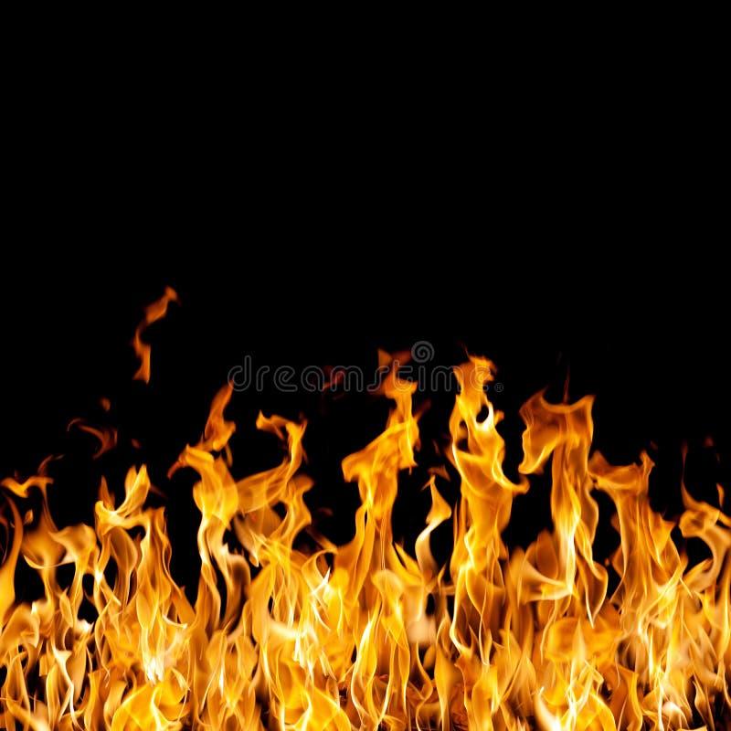 Fuego en negro imagen de archivo libre de regalías