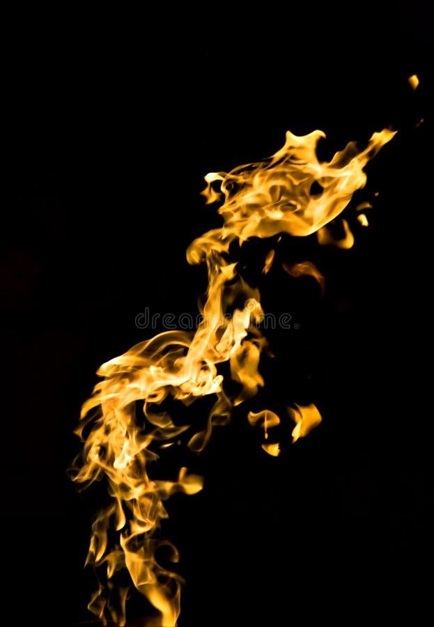 Fuego en negro fotos de archivo