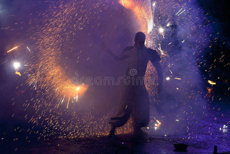 Fuego Fest 2011 de Kiev fotos de archivo