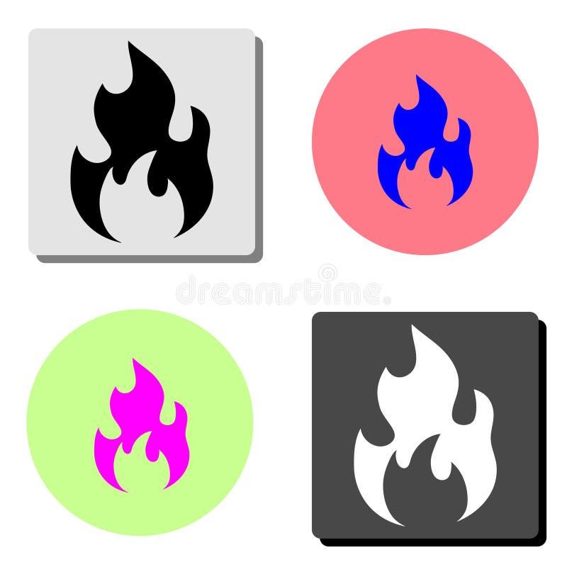 Fuego Icono plano del vector ilustración del vector
