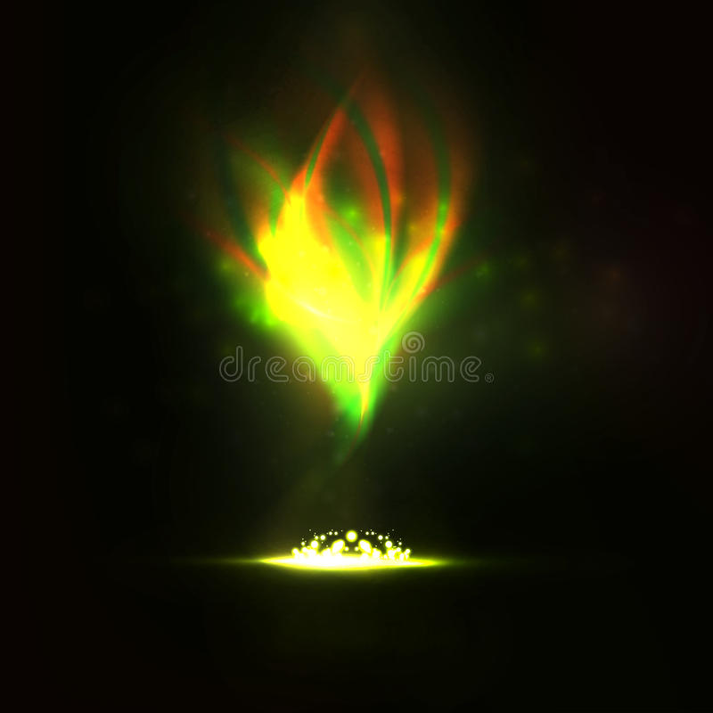 Fuego mágico ilustración del vector
