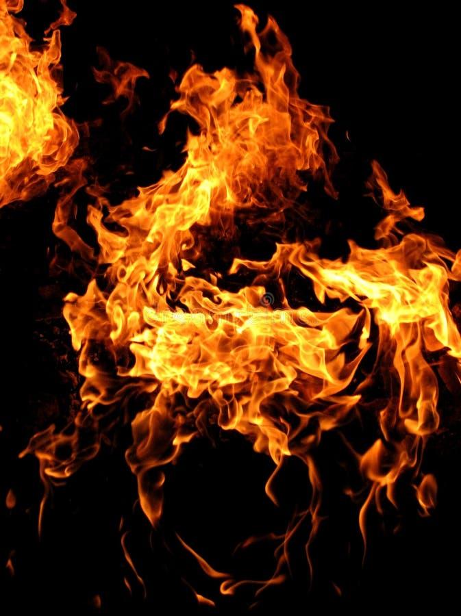 Fuego natural cerca de Baku, Azerbaijan foto de archivo