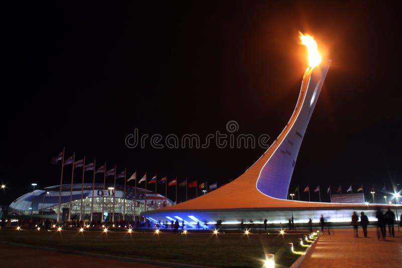 Fuego olímpico imagen de archivo libre de regalías