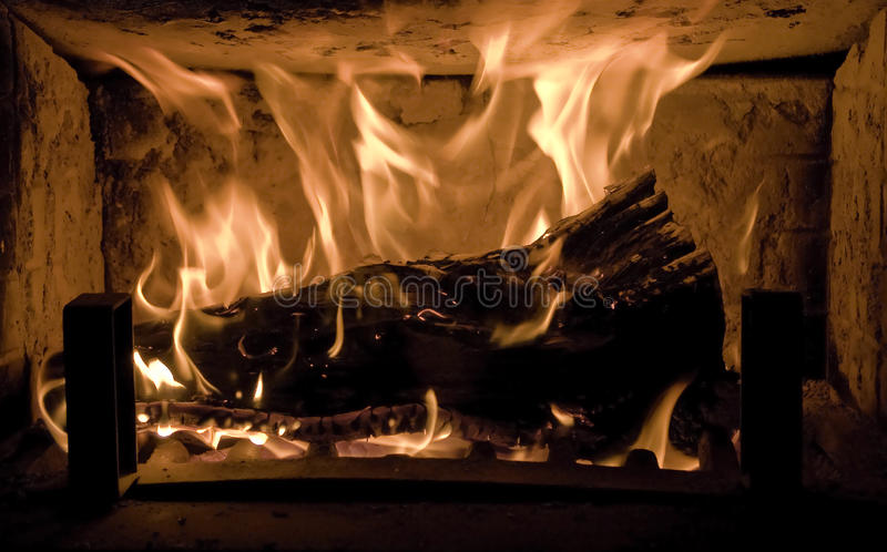 Fuego romántico fotos de archivo libres de regalías