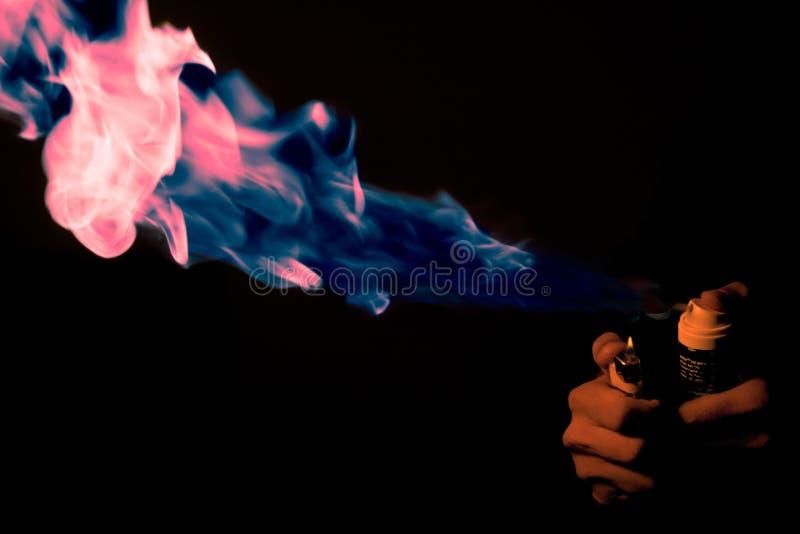 Fuego Rosado-azul imágenes de archivo libres de regalías