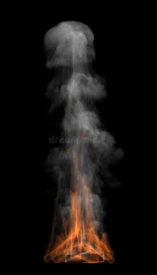 Fuego y humo fotografía de archivo
