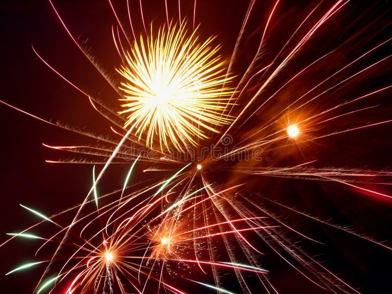 Fuegos artificiales foto de archivo