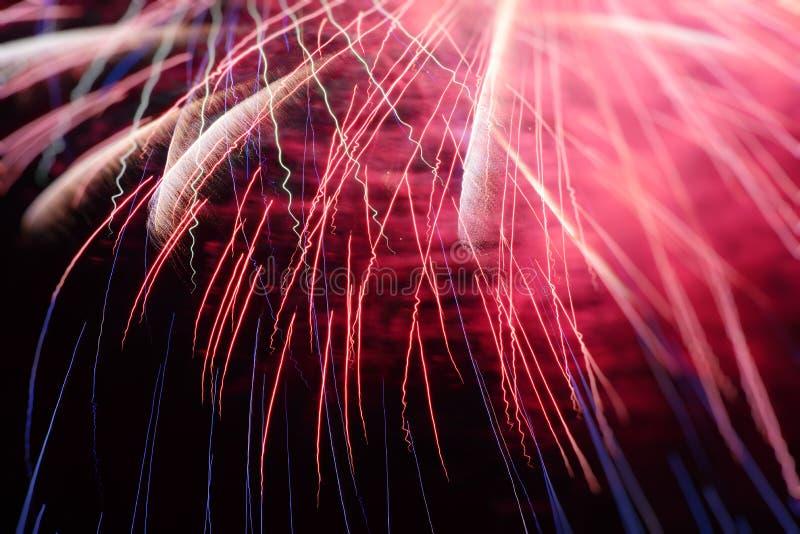Fuegos artificiales coloridos fotografía de archivo libre de regalías