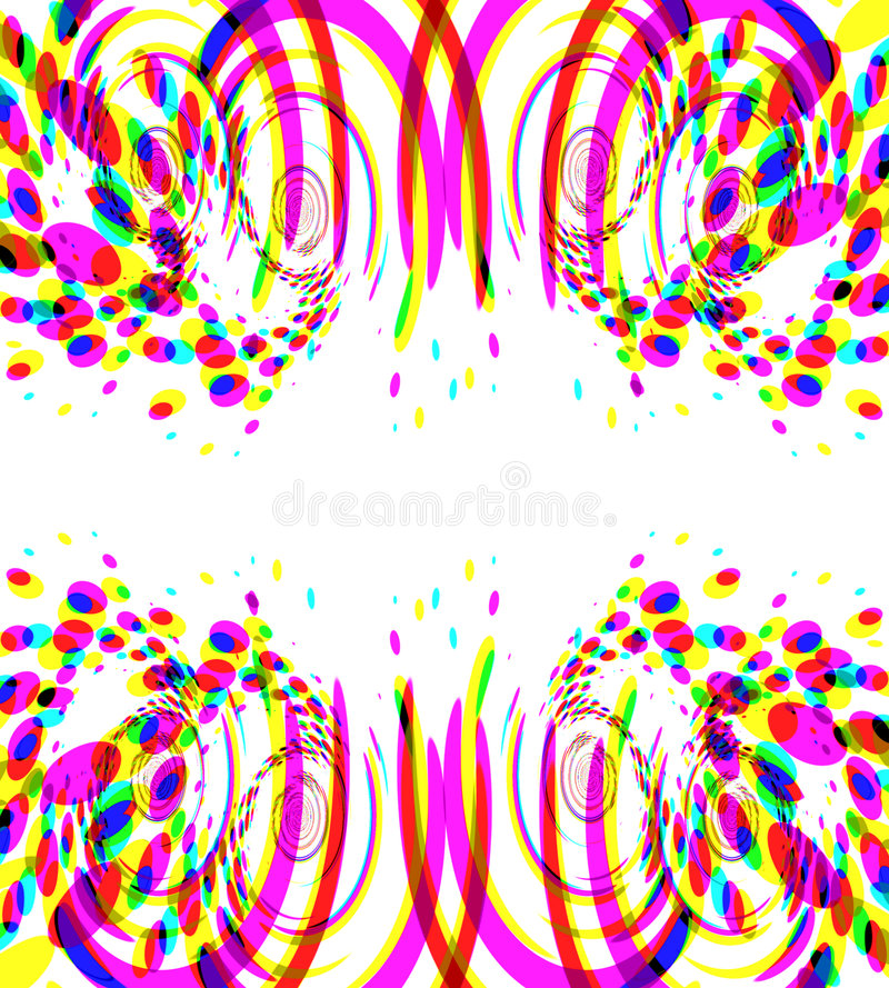 Fuegos artificiales coloridos del confeti ilustración del vector