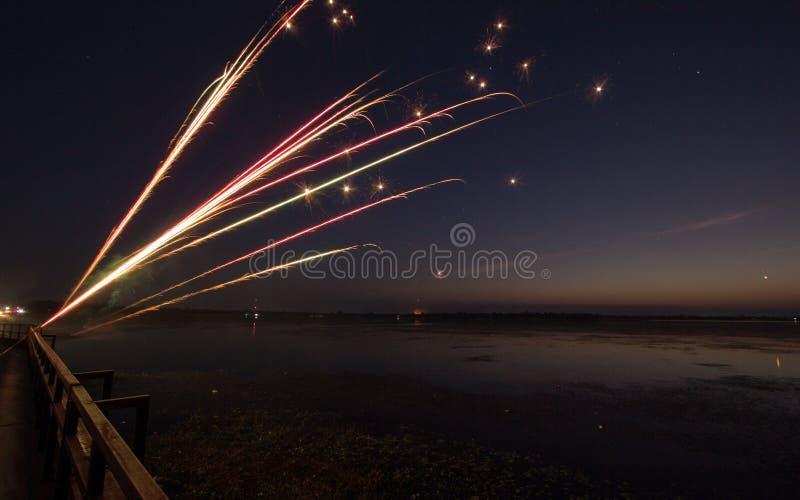 Fuegos artificiales de la vela foto de archivo